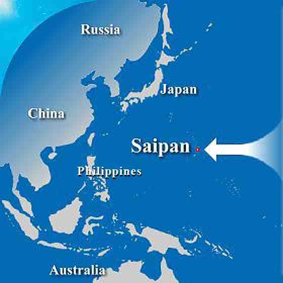where is saipan map of saipan